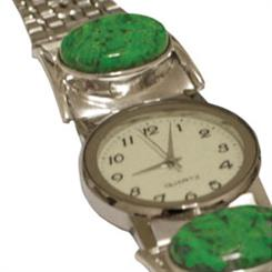 Made in Earth has branched out into watches. This is a Burmese jade watch.