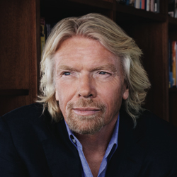 Richard Branson, the face of Bulova Accutron