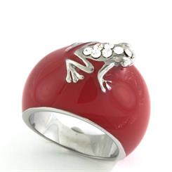 Hamilton Hall's new red enamel 'Frog' ring