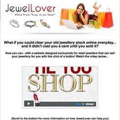 Jewellery Marketing Solutions' preliminary JewelLover website