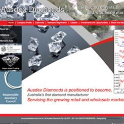 Ausdex Diamonds website