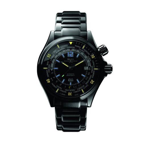 Ball's new Engineer Master II Diver Worldtime watch in black
