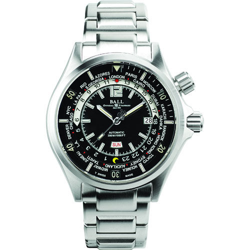 Ball's new Engineer Master II Diver Worldtime watch in white