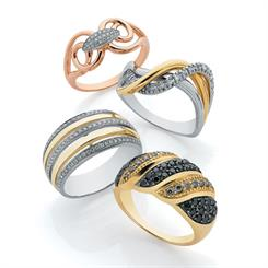 Diamond dress rings, new from House of Bond