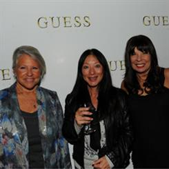 Sequel AG's CEO, Cindy Livingston (far left) enjoying the festivities at the GUESS launch