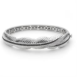 The 'Leaf' bangle set in rhodium-plated sterling silver, new from Georgini