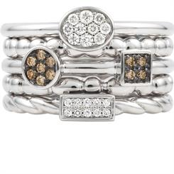 Mark McAskill's stackable ring from the 'Khloe' collection
