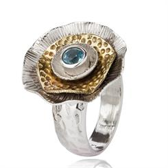 This ring from Made in Earth combines natural gemstones set in sterling silver
