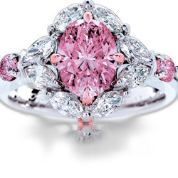 Calleija Jewellers 'My Fair Lady' piece featuring a tendered Argyle Pink Diamond