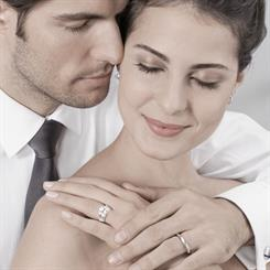 Happy couples may be burdened by the weight of expectations while buying a ring