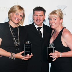 From L-R: Pandora CEO Karin Adcock, Showcase CEO Mike Mishevski and Catherine Pevy-Trewartha of Burleigh Showcase Jewellers