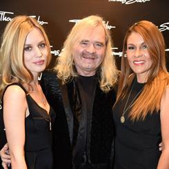 Thomas Sabo and his wife, Luz Enith, attended the store launch with Georgia May Jagger (left)