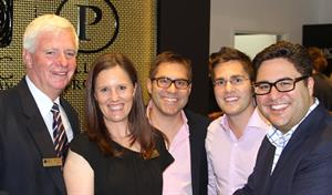 (L-R) Pallion directors Frank Gregg, Janie Simpson and Phillip Cochineas, with Pallion chief operating officer Paul Cochineas and CEO Andrew Cochineas
