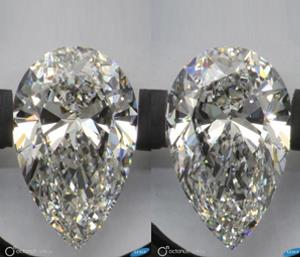 A stereo pair of diamonds captured in ViBox with the OctoNus and Lexus watermark logos visible
