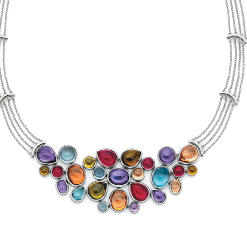 This multi-coloured necklace is also part of Georgini's Couture range
