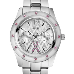 GUESS' new Sparkling Pink watch designed to aid breast cancer research