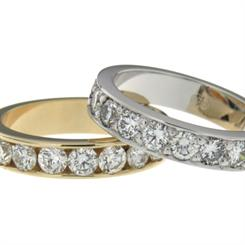 Peter W Beck's new diamond wedding rings part of its 35th anniversary collection