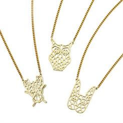 Karen Walker's filigree pendants come in the shapes of various animals