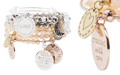 Nikki Lissoni's bangle and charm collection
