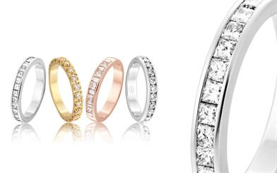Peter W Beck's wedding ring range