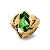 Leaf ring, green
