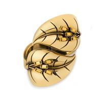 Leaf cuff, gold