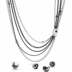 Pandora's new Romantic Rock necklaces with an assortment of charms