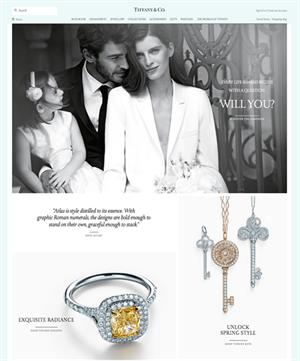 Tiffany & Co has a mobile-friendly website, making it easier to access on mobiles for consumers