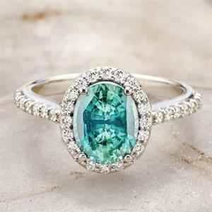 ... coloured gemstones can serve as a way to set one\'s engagement ring  apart. Growing in favour, coloured gemstones are eye-catching and bold.
