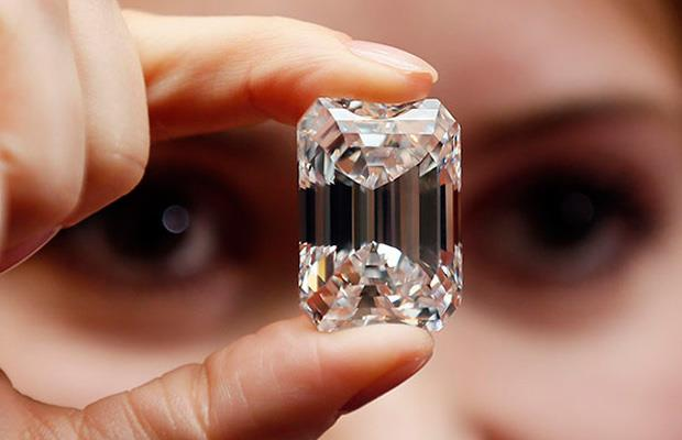 A 100-carat emerald-cut diamond is expected to fetch up to $32.5 million