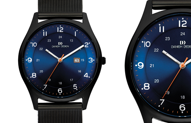 Danish Design's lightweight hypo-allergic titanium men's watch