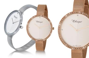 Classique's cubic zirconia embellished watches