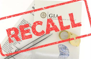 The GIA has issued a recall of 424 diamond grading reports
