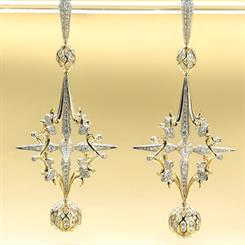 Susan Blennerhassett's Starstruck earrings came second in the Gold/Platinum category
