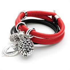 The Rapture bracelet with red leather from Najo