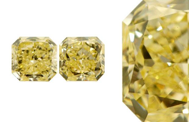 Vital Diamonds' fancy yellow matching diamonds
