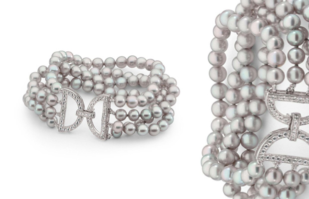 Ikecho Pearls' four row pearl bracelet