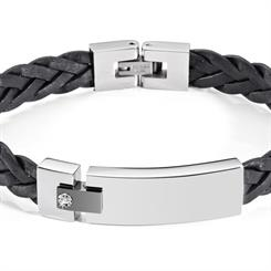 Morellato's new black leather bracelet for men