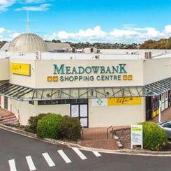 A car was used to smash through the entrance of Meadowbank Shopping Centre in a jewellery heist