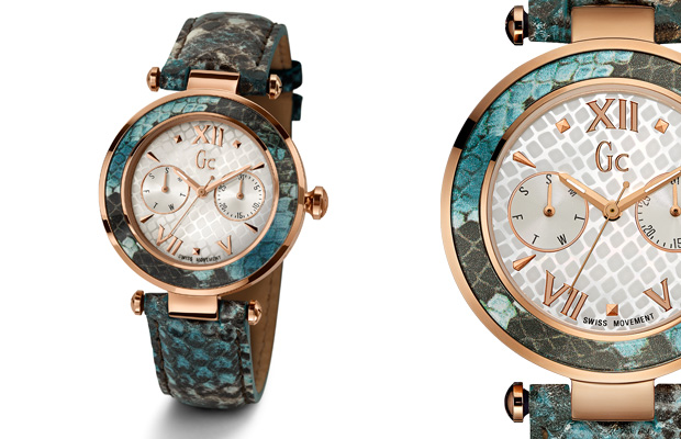 The Gc LadyChic Turquoise Python watch by Gc Watches