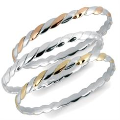 Worth & Douglas's new range of combination bangles
