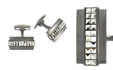 Cudworth Enterprises' sterling silver and gunmetal-plated cufflinks