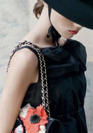 Chanel feature black and red tones