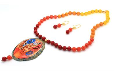 Colors of Jewels' Buddha necklace