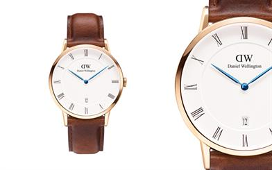 Daniel Wellington's St Mawes rose gold Dapper watch
