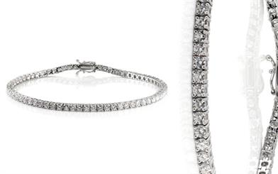 Regentco Findings' 18-carat white gold and diamond tennis bracelet