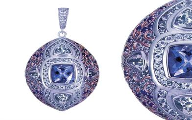 Himalayan Treasures' amethyst and sterling silver pendant