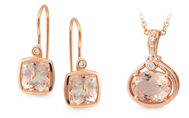 Mark McAskill Jewellery's morganite and rose quartz collection