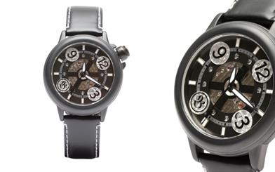 Bausele's limited edition automatic watch in black.