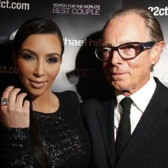 Kim Kardashian with Sir Michael Hill as the star prepares to promote the retailer via social networking platforms